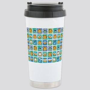 Coffee & Doughnuts Stainless Steel Travel Mug