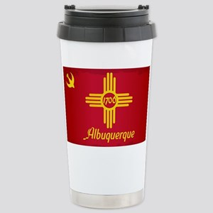 Albuquerque City Flag Stainless Steel Travel Mug