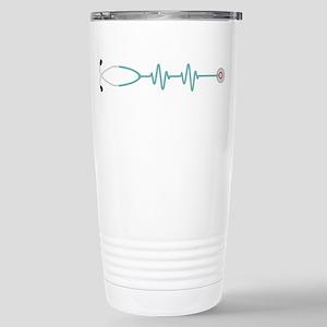 Stethescope Heart Rate Monitor Travel Mug