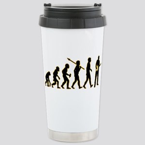Banjo Player Stainless Steel Travel Mug