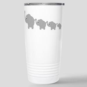 Elephants Design Stainless Steel Travel Mug