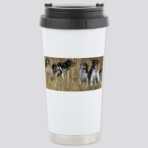 dogs in dry grass copy Mugs