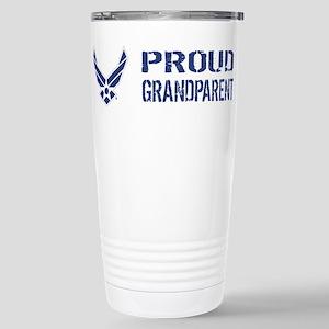 USAF: Proud Grandparent Stainless Steel Travel Mug
