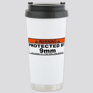 protected by 9mm Travel Mug