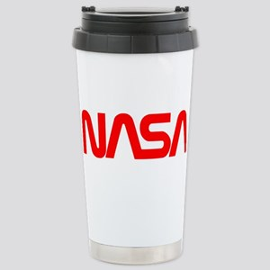 NASA Worm Logo Stainless Steel Travel Mug