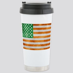 Irish American Flag Stainless Steel Travel Mug