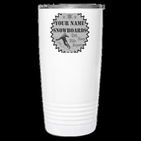 Snowboard Stainless Steel Travel Mug