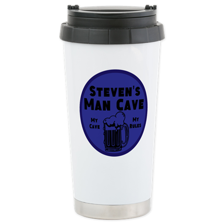 Personalized Man Cave Stainless Steel Travel Mug