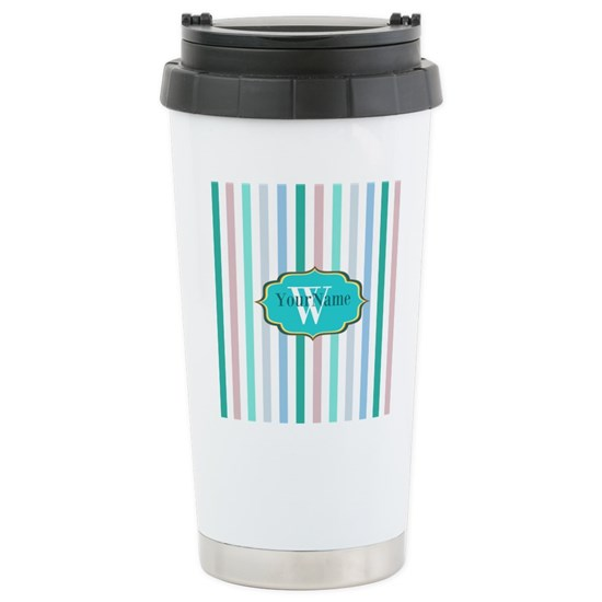 Monogrammed Multicolored Stripes
