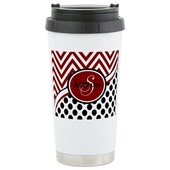 Red and Black Chevron Dots
