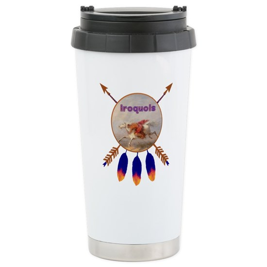 Oz Native Plants: Iroquois Native American 16 Oz Stainless Steel Travel Mug