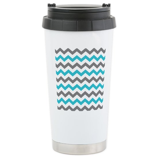 Teal and Gray Chevron Pattern