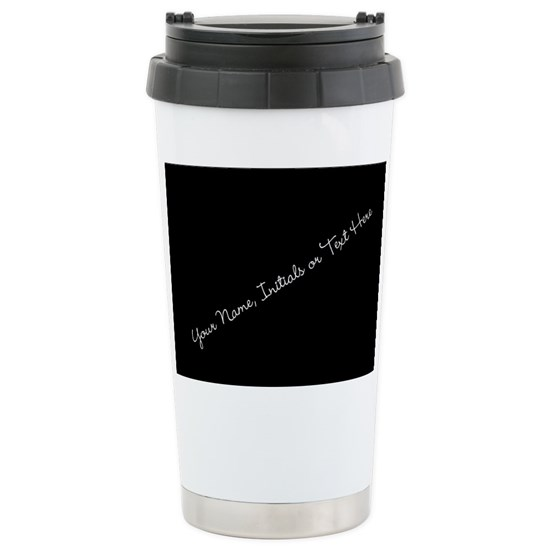 Your Name Initials Or Text Here Travel 16 Oz Stainless Steel Mug
