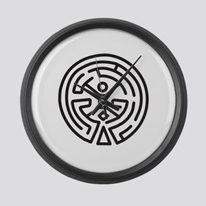 Maze in Westworld Large Wall Clock
