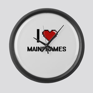 I Love Mainframes Large Wall Clock