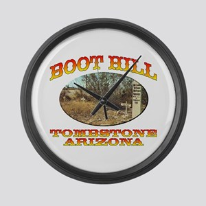 Boot Hill Large Wall Clock