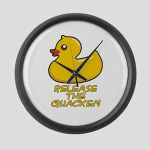 Release the Quacken Large Wall Clock