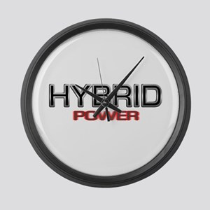 Hybrid POWER Large Wall Clock