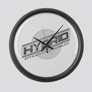 Hybrid Automobiles Large Wall Clock