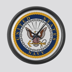 US Navy Emblem Large Wall Clock