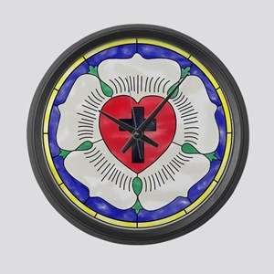 Luther Seal Stained Glass Window Large Wall Clock