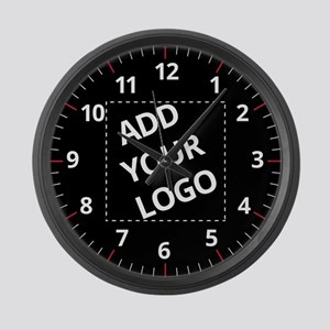 Your Logo Here Large Wall Clock
