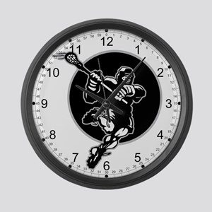 LAX Player Logo Large Wall Clock