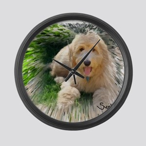 Goldendoodle Large Wall Clock
