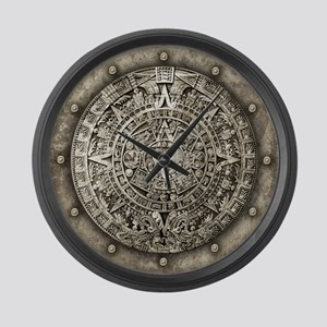Aztec Calendar Large Wall Clock