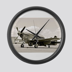 P-51 Airplane Large Wall Clock
