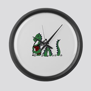 Loch Ness Monster Bagpipes Large Wall Clock