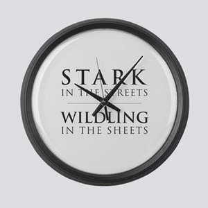 Stark in the Streets Large Wall Clock