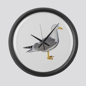Yellow Legged Gull Large Wall Clock