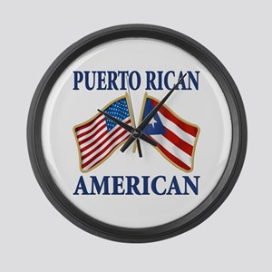Puerto Rican Flag Wall Clocks - CafePress