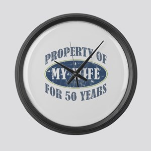 Funny 50th Anniversary Large Wall Clock