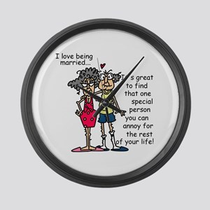 Marriage Humor Large Wall Clock