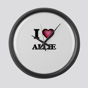 I Love Allie Large Wall Clock