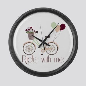 Ride with me Large Wall Clock