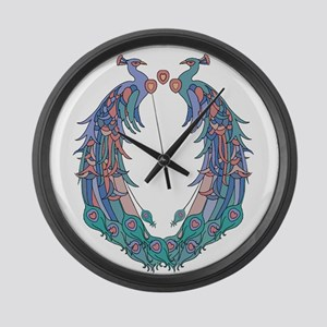 Peacocks Pride Large Wall Clock