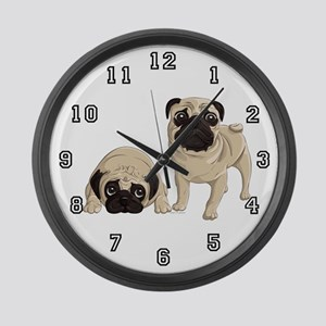 Pugs Large Wall Clock