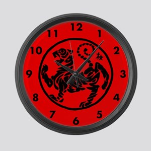 Martial Artist Large Wall Clock