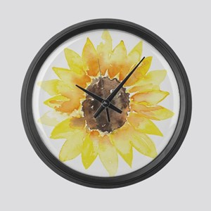 Cute Yellow Sunflower Large Wall Clock
