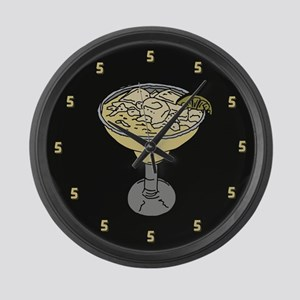 It's Five O'Clock Somewhere Large Wall Clock