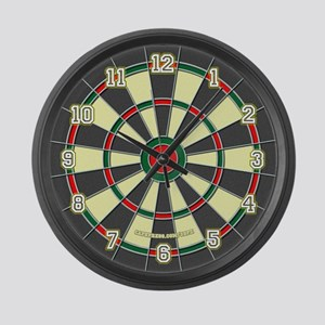 Dartboard Large Wall Clock