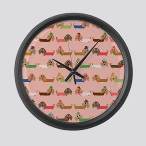 Delightful Dachshunds Large Wall Clock
