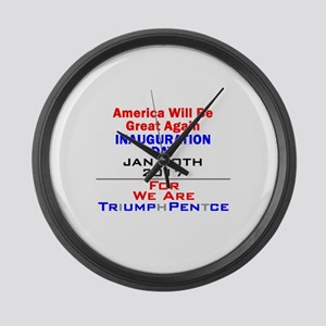Trump Large Wall Clock