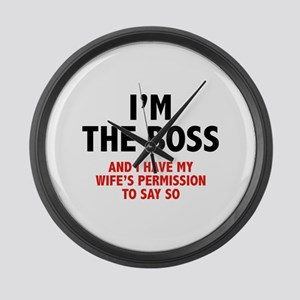 I'm The Boss Large Wall Clock
