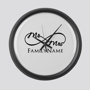 Custom Infinity Mr. and Mrs. Large Wall Clock