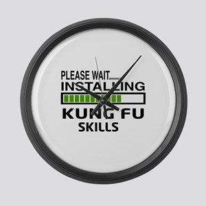 Please wait, Installing Kung Fu s Large Wall Clock
