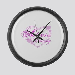 Actress-In-Training Design I Large Wall Clock